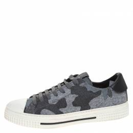 Valentino Grey Camo Tweed Cap Toe Low Top Sneakers Size 41.5 259407