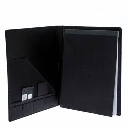 Tumi Black Leather Chambers Letter Pad Cover