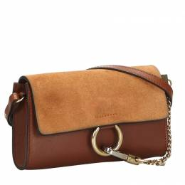 Chloe Light Brown/Brown Suede Leather Faye Bag