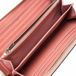 Coach Pink Leather Zip Around Wallet