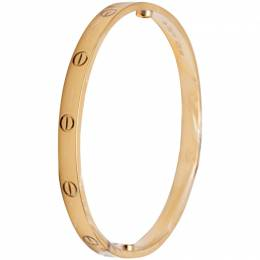 Cartier Love Yellow Gold Bracelet Size 19 260716