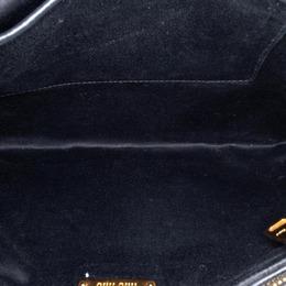 Miu Miu Black Calf Leather Studded Soft Clutch 259918