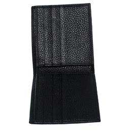 Dolce&Gabbana Black Leather Bottalato Radio 6 CC Bifold Wallet 258745