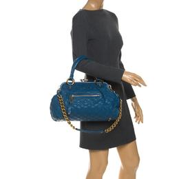 Marc Jacobs Blue Quilted Leather Stam Shoulder Bag