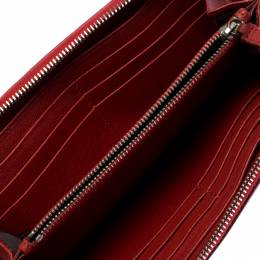 Marc Jacobs Red Studded Leather Zip Around Continental Wallet 258763