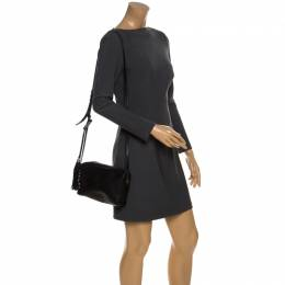 Saint Laurent Paris Black Leather Lou Camera Crossbody Bag