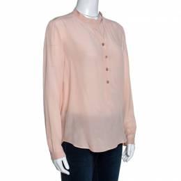Stella McCartney Blush Pink Silk Long Sleeve Blouse XS 258022