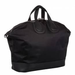 Givenchy Black Leather Nightingale Holdall Bag
