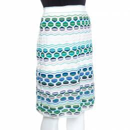 M Missoni Multicolor Textured Knit Midi Skirt M 258058