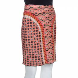 Alaia Multicolor Jacquard Patterned Knit Fit In Short Skirt M