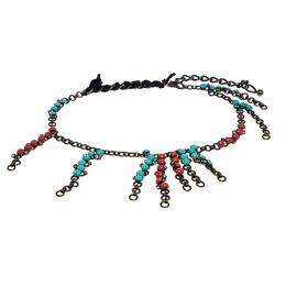 Lanvin Multi-color Embellishments Gold Tone Chain Link Statement Necklace / Belt