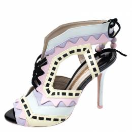 Sophia Webster Multicolor Leather Riko Cut Out Sandals Size 37