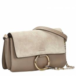 Chloe Gray Leather Faye Bag