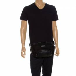 Tumi Black Nylon and Leather Newport Utility Belt Pouch 257997