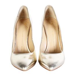 Giuseppe Zanotti Design Gold Leather Carolyne Pumps Size 39