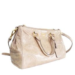 Prada Beige Vitello Leather Tote Bag 210739