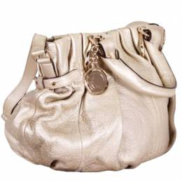 Celine Light Gold Leather Small Pillow Bag 200394
