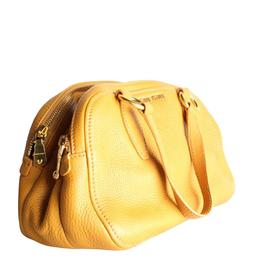 Miu Miu Yellow Leather Bauletto Vitello Ocra Bag 199787
