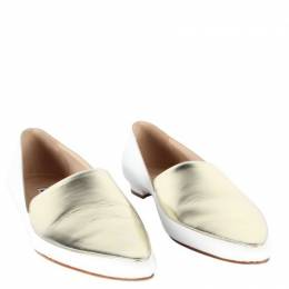Manolo Blahnik White leather Pointed Toes Slip ons Size 37.5 197474