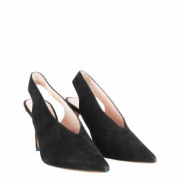 Celine Black Suede Pointed Toes Pumps Size 39