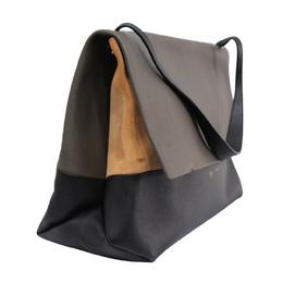 Celine Bi Color Leather Shoulder Bag 200673