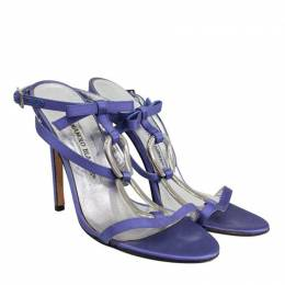 Manolo Blahnik Purple Satin Sandals Size 37 189150