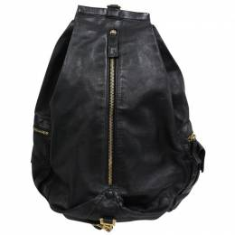 Versace Black Leather Backpack 188932