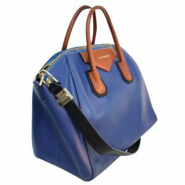 Givenchy Electric Blue/Brown Leather Antigona Bag