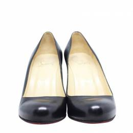 Christian Louboutin Black Leather Wedge Pumps Size 37