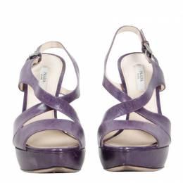 Prada Purple Leather Sandals Size 36.5 190461