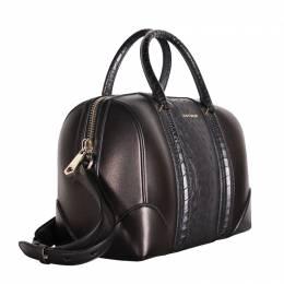Givenchy Black Ostrich Leather Medium Lucrezia Bag
