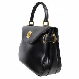 Bally Black Leather Tote Kelly Bag 191864