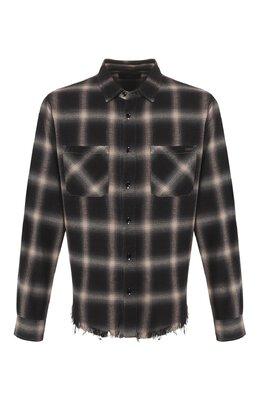 Рубашка из смеси хлопка и вискозы Amiri Y0M06375PD