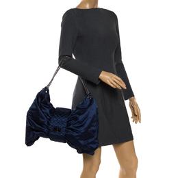 Chanel Blue Satin 2.55 Ribbon Shoulder Bag 269232