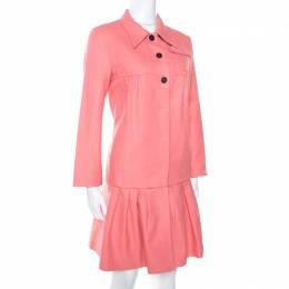 Miu Miu Pink Cotton Blend Babydoll Coat S