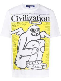 Junya Watanabe Man футболка с графичным принтом WET003S20