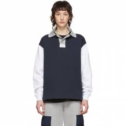 Rassvet Navy and White Rugby Polo PACC6T022