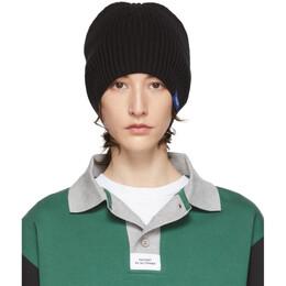 Rassvet Black Wool Logo Beanie PACC6K002