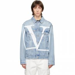 Valentino Blue Denim VLogo Jacket TV3DC00KKHL