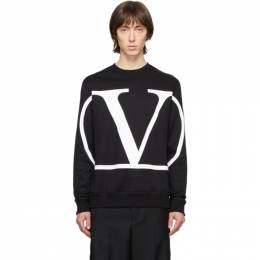 Valentino Black VLogo Sweatshirt TV3MF05H5F7