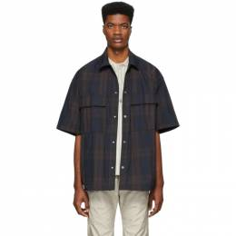 Fear Of God Black and Navy Oversized Nylon Shirt 6H19-2010-PLD