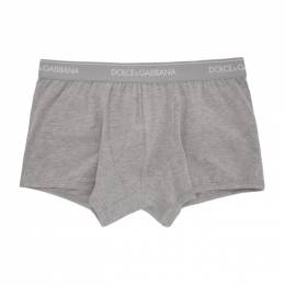 Dolce&Gabbana Two-Pack Grey Regular Boxer Briefs M9C07J FUGIW
