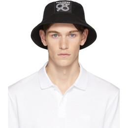 Hugo Black Hugo 93 Badge Bucket Hat 50427903