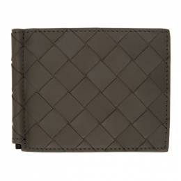 Bottega Veneta Grey Intrecciato Money Clip Wallet 592626 VCPQ4