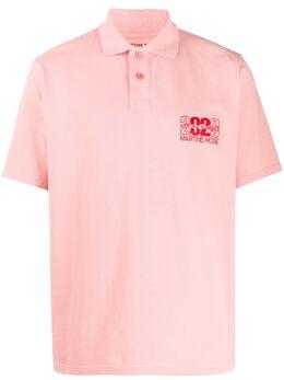 Martine Rose рубашка-поло с вышивкой CMRSS20903