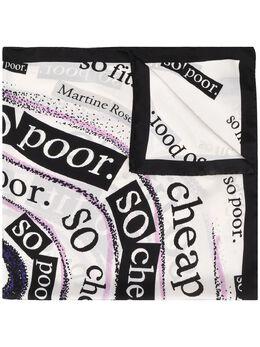 Martine Rose шарф с графичным принтом MRSS201131