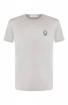 Хлопковая футболка Alexander McQueen 576671/QNX01