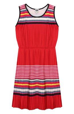 Плиссированное платье Karl Lagerfeld Kids Z12142