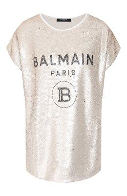 Топ с пайетками Balmain TF11351/J037