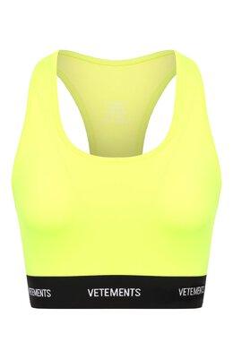 Топ Vetements SS20TR342 1624/W/FLU0 YELL0W